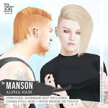 lock&tuft - manson brown + red