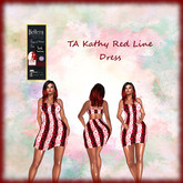 TA Kathy Red Line Dress