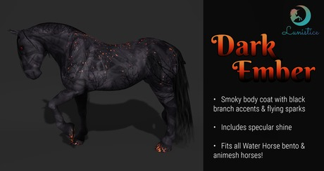 Lunistice: Dark Ember - Water Horse Body Coat & Hooves
