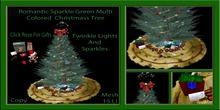 Romantic Sparkle Green Multi Colored Christmas Tree
