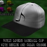MUSIC LOVERS CAP