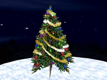 Blinking Christmas Tree with golden Garland