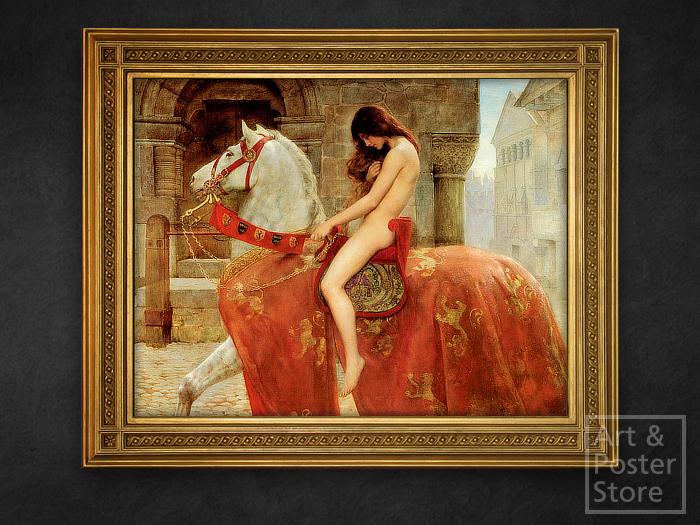 Second Life Marketplace Lady Godiva John Collier Pre Raphaelite Painting Gold Leaf Frame