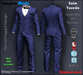Zaim Tuxedo -Darkblue-  Aesthetic, Signature Gianni, Geralt, Slink, Jake, Standard S-M-L -Imagine Moda-