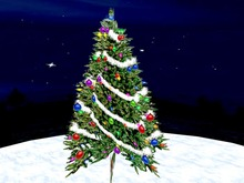 Blinking Christmas Tree with white Garland