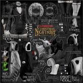 CURELESS[+] Christmas Nightmare / Boo Onesie / BLACK