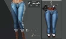 Baboom- Jeans-lightblue/lace