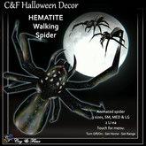 C&F Wandering / Animated Spider - Hematite