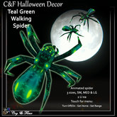 C&F Wandering / Animated Spider - Teal Green