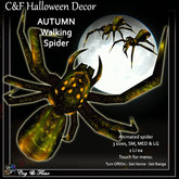 C&F Wandering /Animated Spider - Autumn Orange & Red