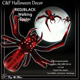 C&F Wandering / Animated Spider - Red/Black