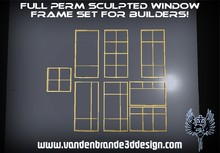 ~~Full perm  Window frames pack 1 with maps! Only on the marketplace!