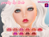 ~Dollypop~ Pretty Lip Tints - Baked On Mesh & Omega