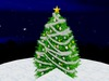 Christmas Tree with Silver Garland