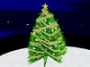 Christmas Tree with Golden Garland