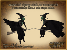 *GALLI* - MESH - Animated Flying Witches x2 - Touch Menu to set area for Movement or simple rotate