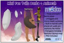 (mc) Mini Fox Tails Bento + Animesh