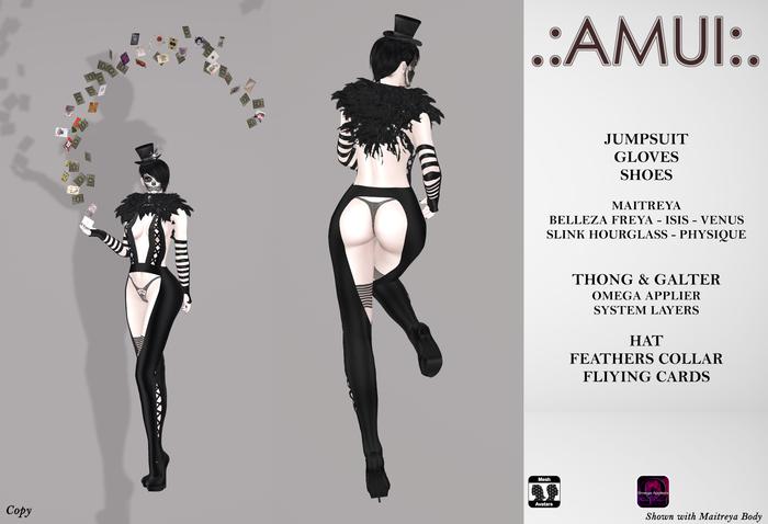 ".:AMUI:. ""Dark Joker"" Outfit (Maitreya, Belleza, Slink)"