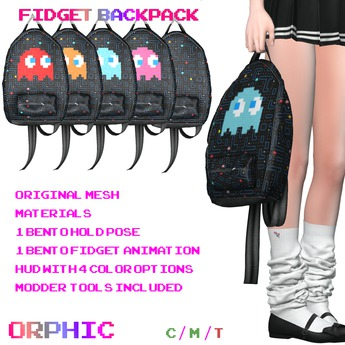 Orphic Fidget Backpack - Pacman