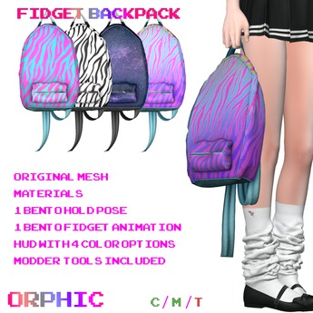 Orphic Fidget Backpack - Trapper Keeper