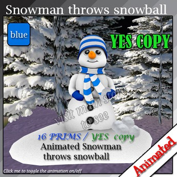 Snowman throws snowball