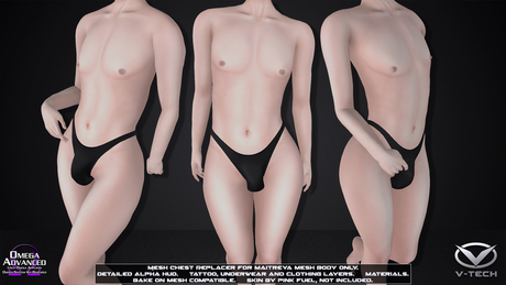 [V-Tech]Boi (Flat) Chest Mod For Maitreya Mesh Body V5+ ONLY