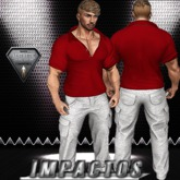 IMPACT-CONJUNTO SHIRT RED&PANTS WHITE