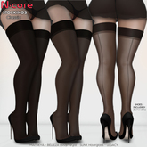 N-core Stockings Collection (Full Pack) BLACK