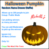 Halloween Pumpkin Random Name Drawer (Raffle)