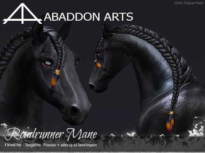 ABADDON ARTS - Roadrunner Mane [Teeglepet FRIESIAN]