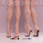 Pure Poison - Flower Sandals