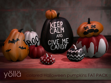 Colored Halloween pumpkins FAT PACK