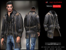 A&D Clothing - Trench -Revolted- Charcoal