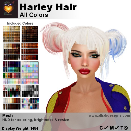 A&A Harley Hair All Colors, boxed
