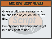 Script Alchemy - Rez Day Gift Giver