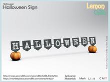 Halloween Sign (Mesh) [Lemon Chilliz]