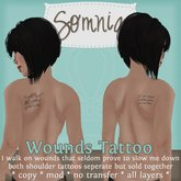 .: Somnia :. Wounds Tattoo {BOTH SHOULDERS} {BOXED}