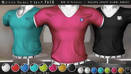 """""""TD"""" Little Pocket T-Shirt PACK Color & Graphics"""