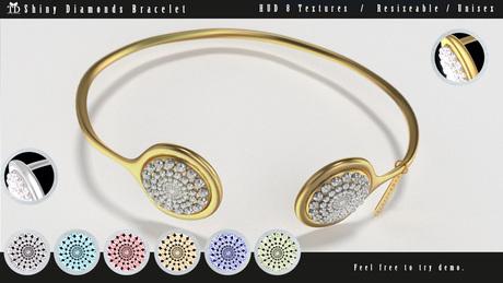 """""""TD"""" Shiny Diamonds Bracelet FATPACK (Resizeable UNISEX)"""