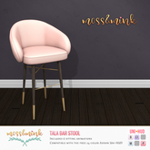 {moss&mink} Tala Bar Stool