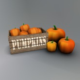 Crate of Mesh Pumpkins