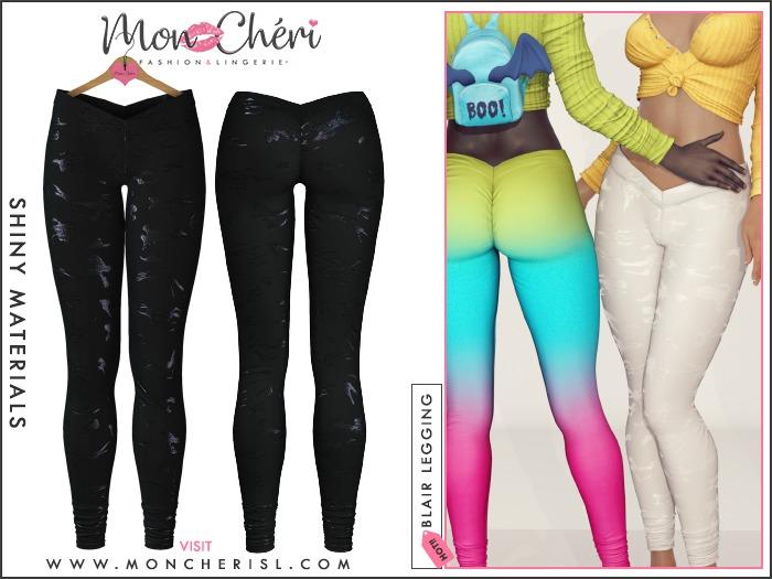 *Mon Cheri* Blair Leggings - Glitter Camo Black