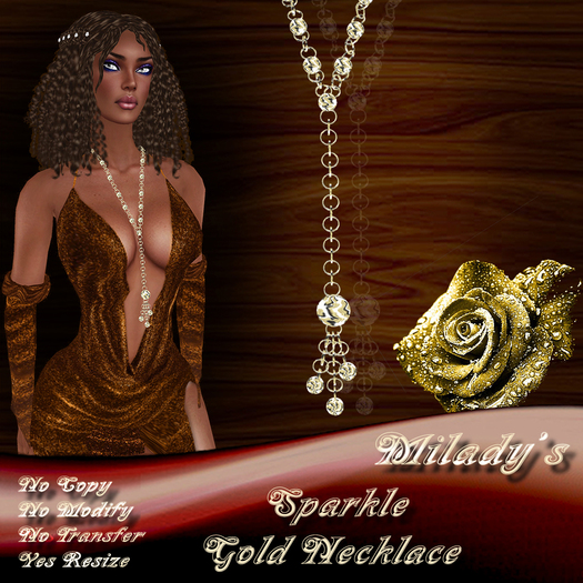 *Milady's* -Sparkle- Gold Necklace
