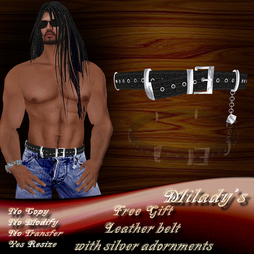 *Milady's* -Free Gift- Men's Leather Belt