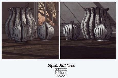 [Merak] Organic Rust Vases