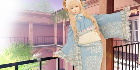 ***Ambrosia***2019Summer KIMONO[blue] ~Maitreya