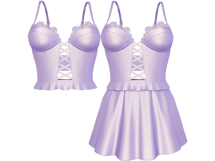 EVIE - Flashback Dress&Top - Lilla