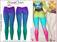 *Mon Cheri* Blair Leggings - Trio Ombre Blue