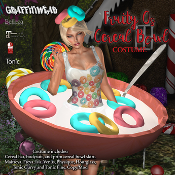 Graffitiwear Fruity O's Cereal Bowl Costume