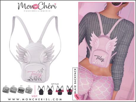 *Mon Cheri* Blair Multistyle Backpack #4 White